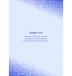 Blue page corner design template vector image