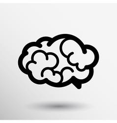Brain icon mind medical brainstorm head human vector image