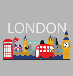 british london symbols poster vector image