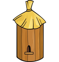 cartoon of farm bee hive vector image