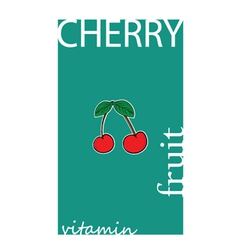 Cherry fruit color vector