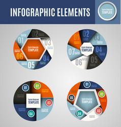 Circle infographics set 3 vector