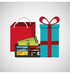 commercial marketing design vector image