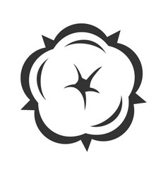 cotton flower in blossom symbol floral design vector image