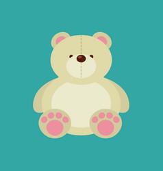 Cute bear icon vector