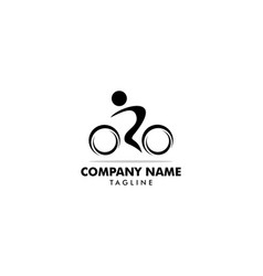 cycle sport logo template design vector image