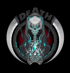 Death Skeleton Grim Reaper Characters With Scythe vector image
