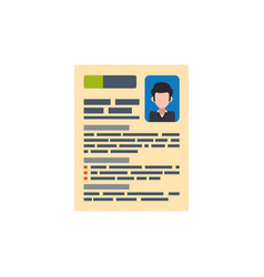 document curriculum vitae vector image