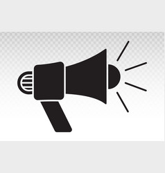 Electric megaphone with sound for marketing vector