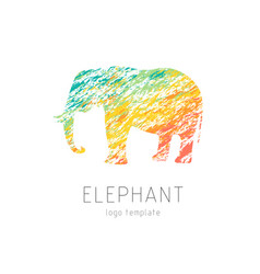 Elephant creative colorful logo template vector