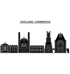 England cambridge architecture city vector