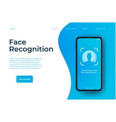 Face recognition concept face vector