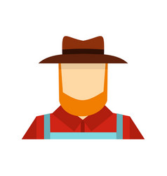 farmer icon flat style vector image