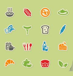 Food and kitchen icon set vector