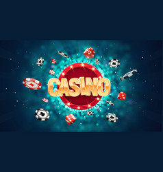 Gambling casino online leisure games vector