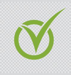 green checkmark icon vector image