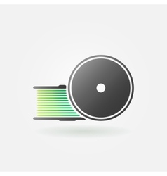 Green filament for 3D Printer icon vector image