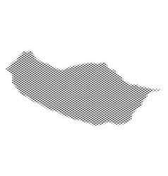 Halftone silver portugal madeira island map vector
