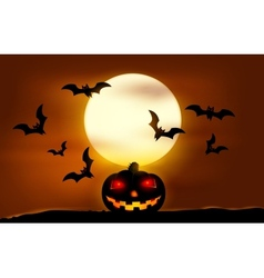 Halloween sunset vector image