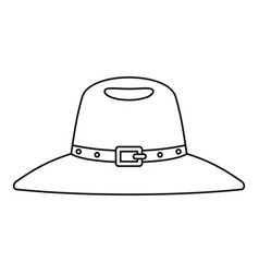 Hat icon outline style vector
