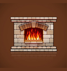 Home fireplace Christmas vector