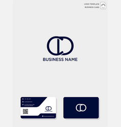 Initial cd or dc creative logo template and vector