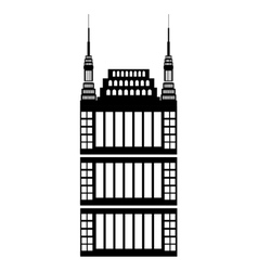 isolated tall building graphic vector image