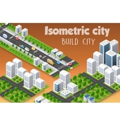 Isometric set of the modern vector image