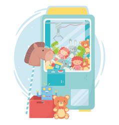 kids toys object amusing cartoon teddy picker vector image