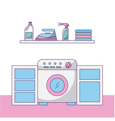 laundry work clothes vector image