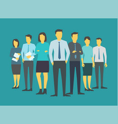 leader boss director team company business group vector image