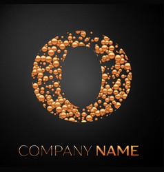letter o logo gold dots alphabet logotype vector image