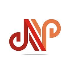 lettering n alphabet icon design vector image