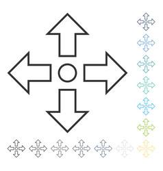 Maximize arrows icon vector