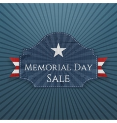 memorial day sale festive poster and ribbon vector image