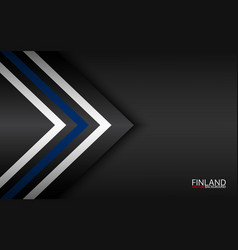 Modern colorful arrows with finnish colors and vector