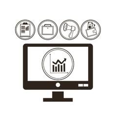 Money economy and commerce design vector