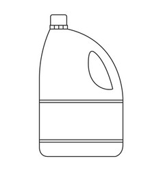 Monochrome silhouette of bleach clothes bottle vector
