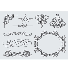 monograms menu design calligraphic vector image