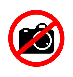 no camera no photo vector image