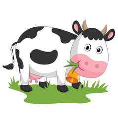 Of cartoon cow vector