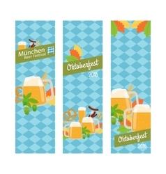 Oktoberfest 2016 vertical banners vector image
