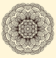 ornament hand drawn mandala blank vector image