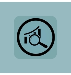 Pale blue graphic examination sign vector