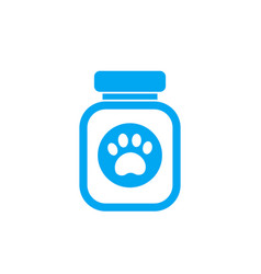 pet food icon on white vector image