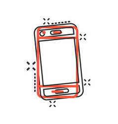 phone device sign icon in comic style smartphone vector image