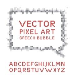 Pixel art speech bubble vector image