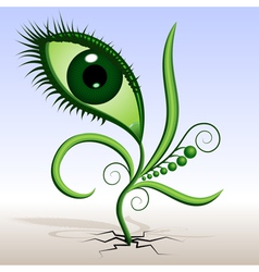 plant-eye vector image