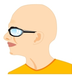 Portrait bald men vector