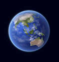 realistic earth globe 3d planet solar system vector image